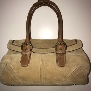 NEW Coach suede bag
